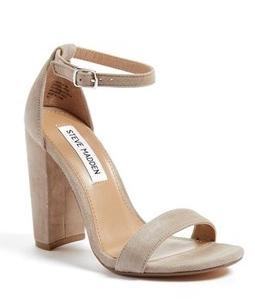Block nude heels
